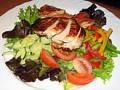 Salat mit hanchenbrust